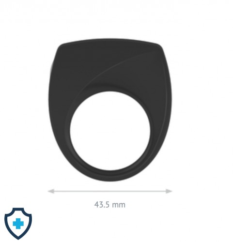 OVO B6 VIBRATING RING BLACK WYMIARY