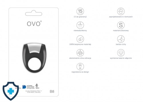 OVO B8 VIBRATING RING BLACK FUNKCJE
