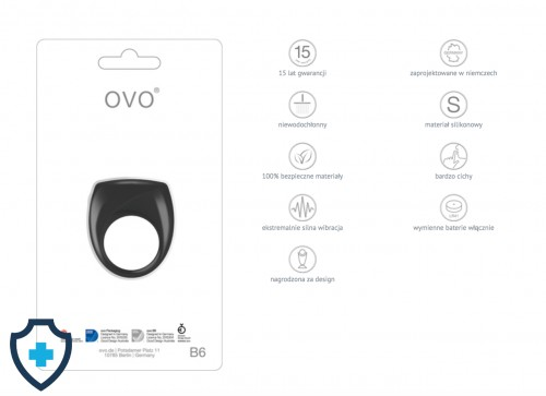 OVO B6 VIBRATING RING BLACK FUNCKJE