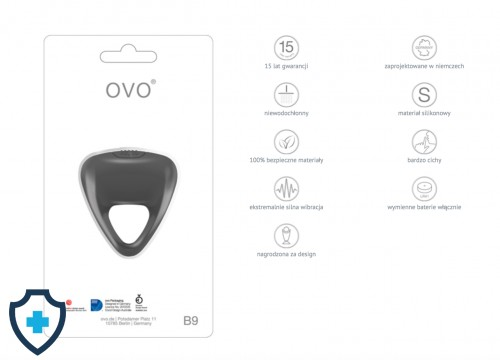 OVO B9 VIBRATING RING GREY  FUNCKJE