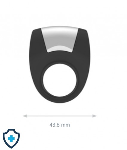 OVO B8 VIBRATING RING BLACK WYMIARY