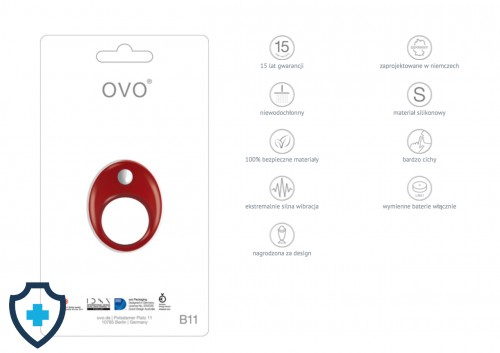 OVO B11 VIBRATING RING RED FUNKCJE